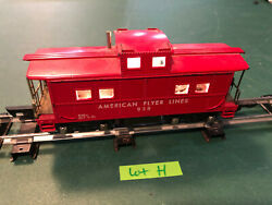 American Flyer Lines S Train Rare Lighted 638 Red Caboose W/link Couplers Lot H