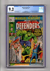 Marvel Feature 1 Origin And 1st App The Defenders Marvel 1971 Cgc 9.2 Graded
