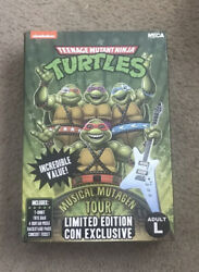 Sdcc 2020 Neca Tmnt Musical Mutagen Tour Merch Box No Figs Adult Large In Hand