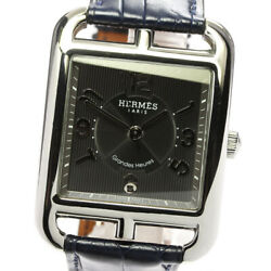 Hermes Cape Cod Cd6.810 Leather Belt Gray Dial Automatic Menand039s Watcha_537822