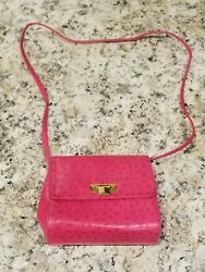 Vintage 1950-60and039s Theodor Hot Pink And Gold Vinyl Classic Chic Trendy Retro Purse