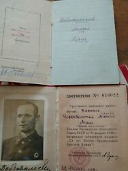 Soviet Russian Ussr 2 Order Of Red Banner Wwii + Red Star