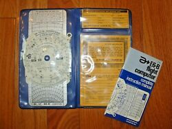 Flight Computer Apr E6-b Complete Instruction Manual W/ Metal Computer And Case