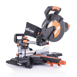 Evolution Power Tools 15 Amp 10 In. Sliding Compound Miter Saw With Laser Dust