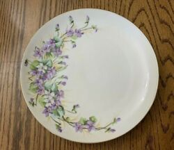 Limoge France Flambeau China Ldb And Co Handpainted Floral Plate Decorative