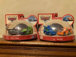 Disney Cars Diecast Lenticular Eyes And Wooden Dj Boost Snot Rod Wingo Lot New