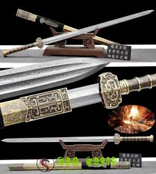Boutique Damascus Folded Steel Pure Copper Chinese Sword Hanjian Kungfu Swords