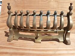 Vintage Old Solid Brass Fire Front Fret Ash Pan Cover Rare Grate Fireplace 16 W
