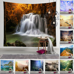 Tapestry Wall Hanging 3D Nature Scenery Mat Blanket Home Decoration Bedspread US