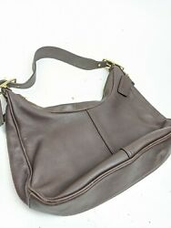 Coach Brown Leather 9342 Soho Hobo Small Purse Shoulder HandBag Satchel Clutch $34.99