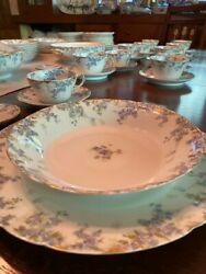 Limoges Antique / Vintage China - Beautiful 53 Piece Set In Excellent Condition