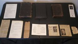 Rare Lambdin Family Antique Leather Bound Bible Obituary Collection 1885-1920s