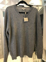 100 Authentic Grey Long Sleeve Sweater Xl Nwt 395