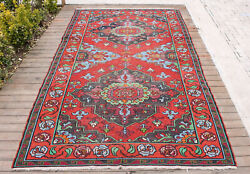 Caucasian Rug 64and039and039x113and039and039 Hand Woven Antique Vintage Sumak Kilim 165x290cm