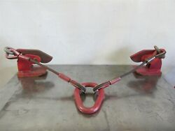 Crosby Ip Horizontal Plate Lifter Pair 3t, 0-2 3/8, W/ Cables, And Rigging -d8740