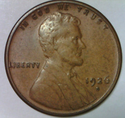 1926 S Lincoln Cent Almost Uncirculated Quality San Francisco Wheat Penny D 2