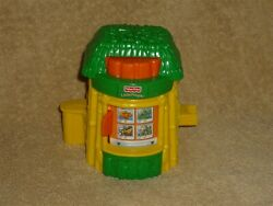 Fisher Price Little People Zoo Food Stand Hut Booth