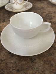 Anitque White Porcelian Minton Demitasse Cup And Saucer 1818 Rare