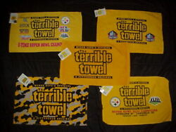 Pittsburgh Steelers Super Bowl Myron Cope Terrible Towel Lot Of 5 New With Tags