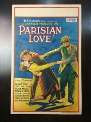 Parisian Love - Early Clara Bow Before The Movie And039itand039 1925 Us Window Card M...