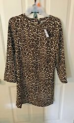 J Crew New With Tags Crepe Cat Print Shift Style Dress Style #K21500  Size 00 $14.99