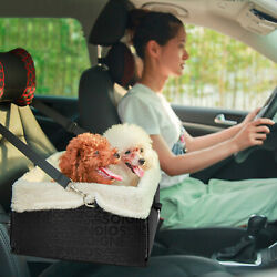 Doggy Pet Car Seat Booster Seat Belt Dog Lining Carrier Clip-on Safety Leash