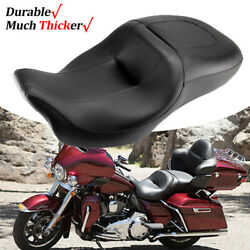 Driver Rider Passenger Seat For Harley Electra Glide Ultra Classic Flhtcu 08-up