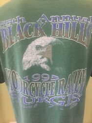Vintage 1995 Sturgis Rally 55th Annual Menandrsquos Green T Shirt Size Large