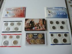 2001 Pandd Us Mint Uncirculated Coin Sets, 2007 Us Mint Presidential 1 Coin Set