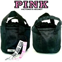 Victoria#x27;s Secret PINK Mini Bucket Bag Black Small Crossbody Bnip ²Hair Ties $29 $20.00