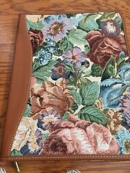 """Laura Ashley Tapestry And Leather Binder 12.5x10"""""""