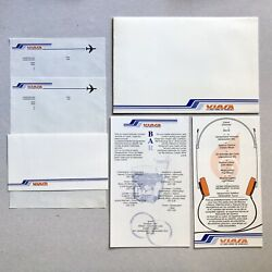 Vtg 1970s Viasa Airlines List Of Drinks Stationery Entertainment Collectible