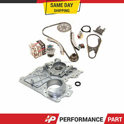 Timing Chain Kit Timing Cover Water Pump Fit 07-11 Chevrolet Hummer Gmc 2.9 3.7l