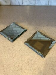 Lot Of 2 Partylite Mirror Base Holder 4 X 4