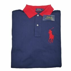 Polo Big Pony Classic Rugby Polo Shirt Menand039s Size Lt Large Tall New