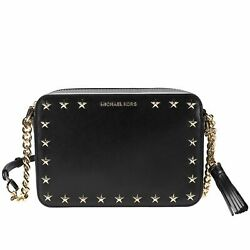 Michael Kors Ginny Studded Leather Crossbody Style 32F7GGNM2Y #65 2289 $76.49