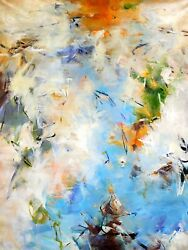 Pair Of 48x60, Signed Henry M, Modern Abstract Oil Painting, Gift, Home Decor