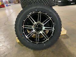20x9 Helo He900 Black Machined Wheels 32 At Tires 6x5.5 Fits Toyota Tacoma