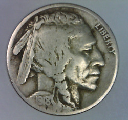 1918 S Buffalo Nickel Quality Full Date Five Cents United States Bison 5 C 1