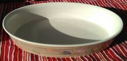 Mikasa - Meadow Sun Qty 1 10 3/8 Oval Serving Bowl Cac02 / Mint- Condition
