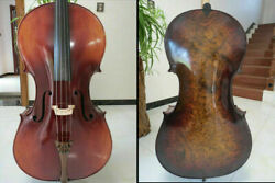Rare Professional Song Cello 4/4 Solid Bird Eye Maple Back Old Spruce Top 14545