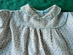 ANTIQUE HANDMADE COUNTRY PRINT BABY DRESS IN GOOD CONDITION CIRCA 1920 $14.00