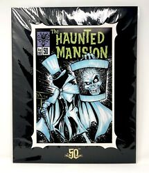 Disney The Haunted Mansion 50 Hatbox Ghost Art Print 20x16 By Brian Crosby New