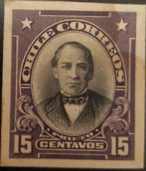 J 1910 Chile Joaquin Prieto American Bank Note Die Proof Imperforated