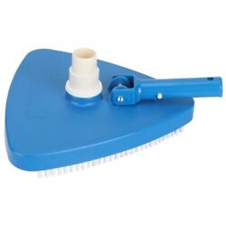 10 Wide Triangular Swimming Pool Vacuum Head With Bottom Brushes Cleaning Tools