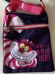Loungefly Disney Cheshire Cat From Alice In Wonderland Passport crossbody Tote