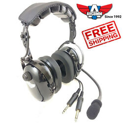 Avcomm Ac-200 Aviation Headset Brand New Includes Free Asa Carrying Bag
