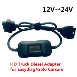 12v To 24v Heavy Duty Truck Diesel Adapter Cable For Launch X431 Easydiag Golo