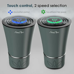 Led Car Air Purifier True Hepa Portable Air Cleaner For Allergies Odors Dust Usb