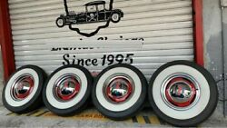 15quot; wheels Tyre 3quot; wide whitewalls port a wall set pack of 4 west coast hot rod